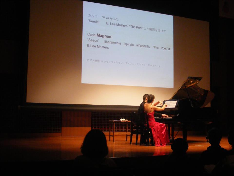 © Piano x Due, R. Spinosa e A. Calcagnile, Giappone