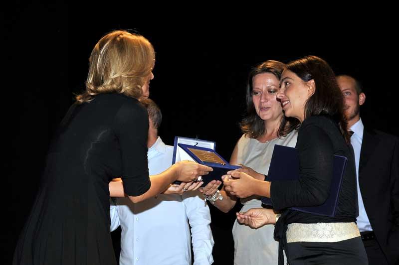 Carla Magnan e Carla Rebora Premio Musica ed Arte,  Roma Sala Petrassi 2009