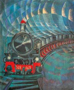 Il treno ha fischiato - Pippo Rizzo - Treno in corsa 1929