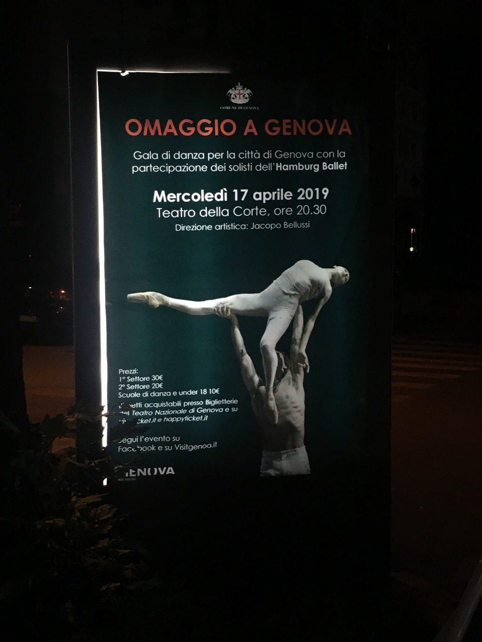 "©Manifesto ""Omaggio a Genova"", Genova 2019"
