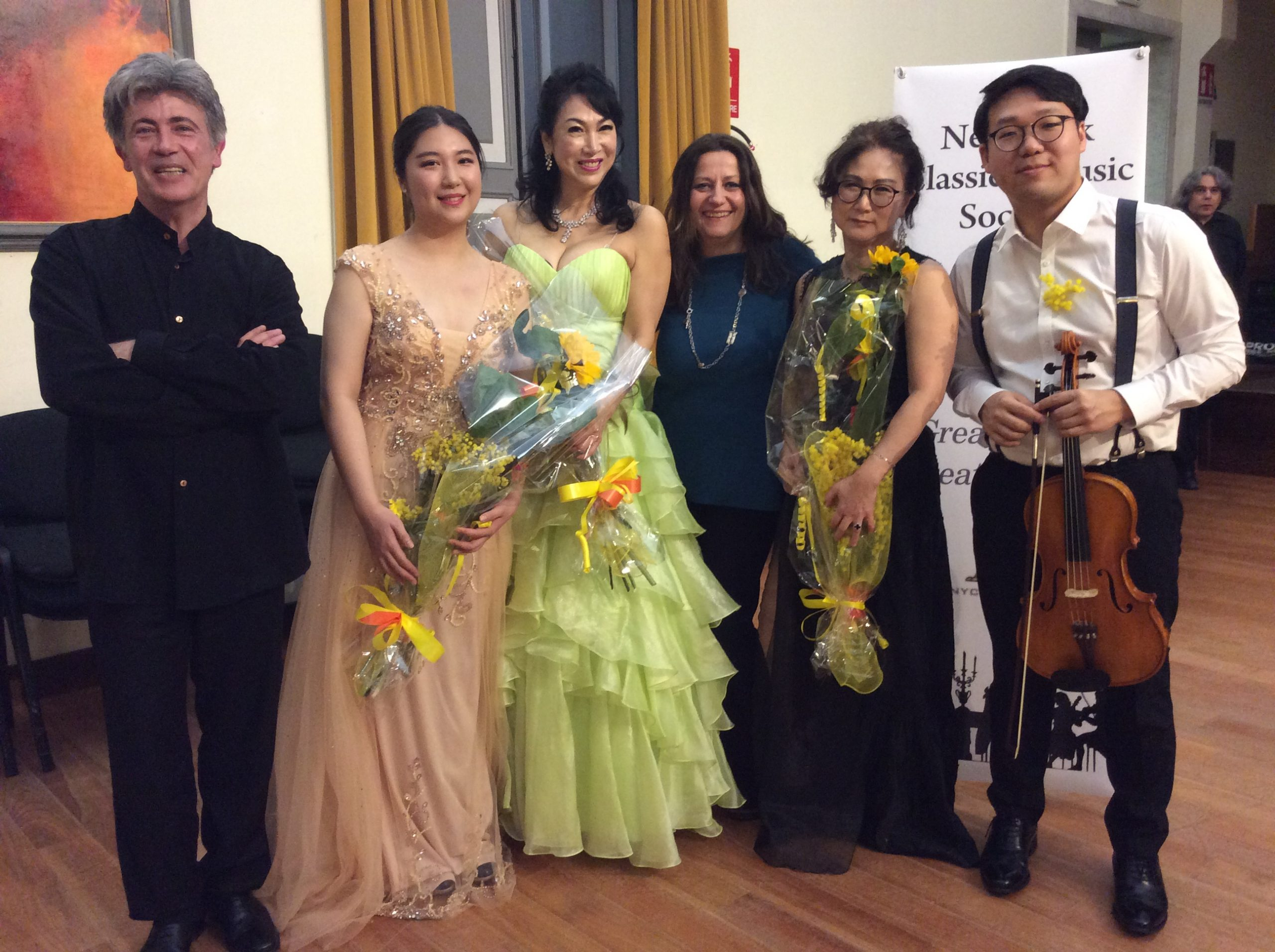 "©with the soloists from the NYMCS: Giovanni Ricciardi, Youkyong Julia Yoon, SeungHee Cha, Carla Magnan, Lynn Czae and Dokjin Oh. Conservatorio ""N. Paganini"", Genova, 2020"
